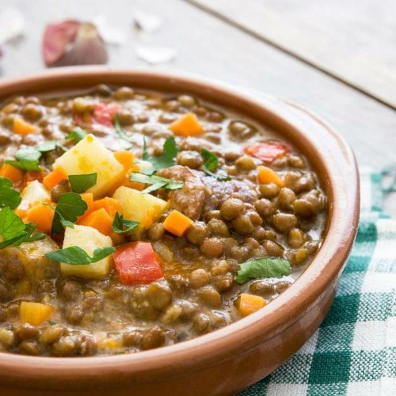 Suppe kochen Linsen lecker