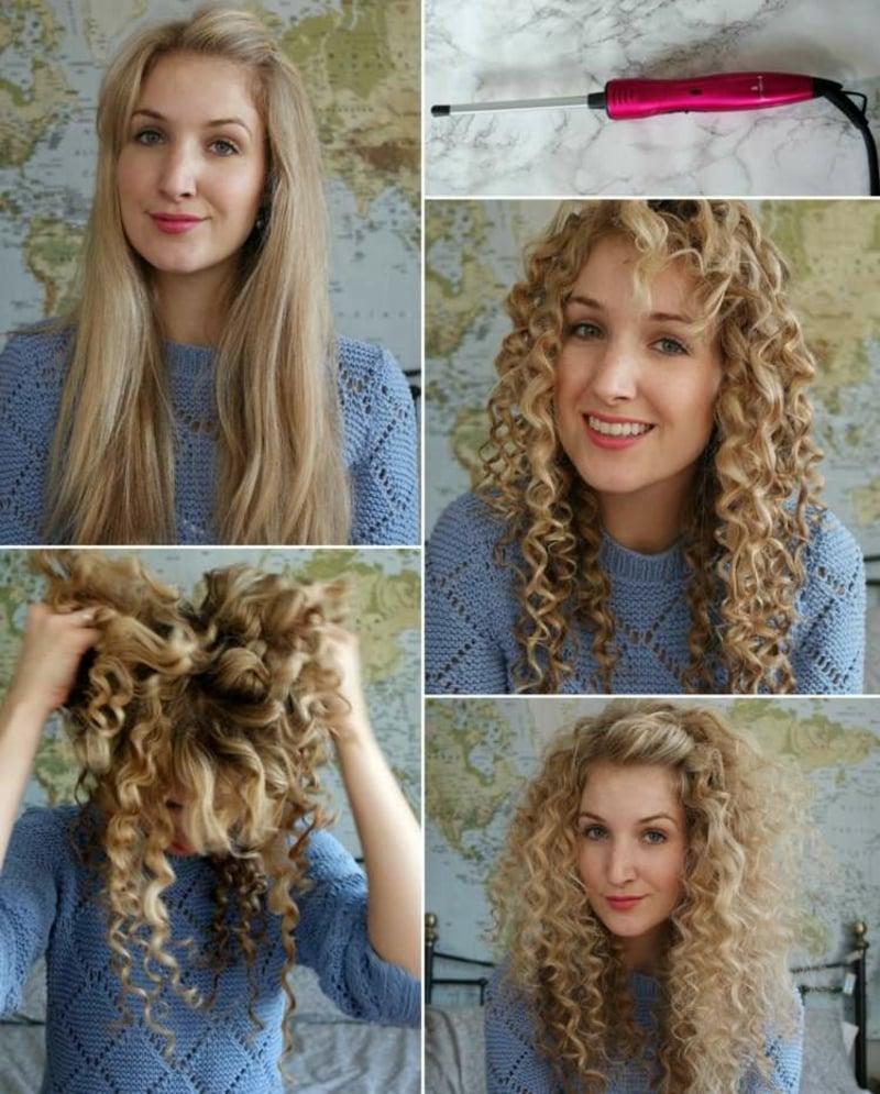 sich die Haare locken Varianten