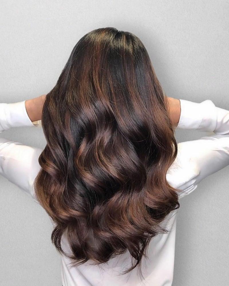 trendige Haarfarben braune Nuancen
