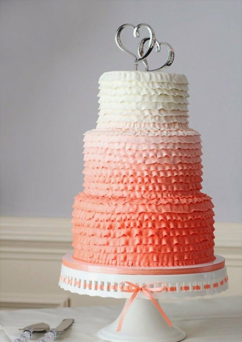 Ombre Torte Hochzeit Deko Fondant