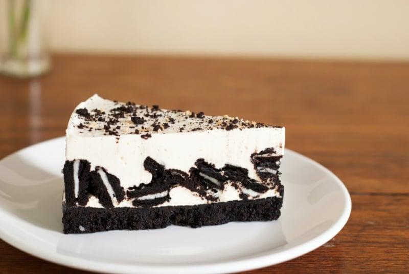 Cheesecake mit Oreos ganze Kekse