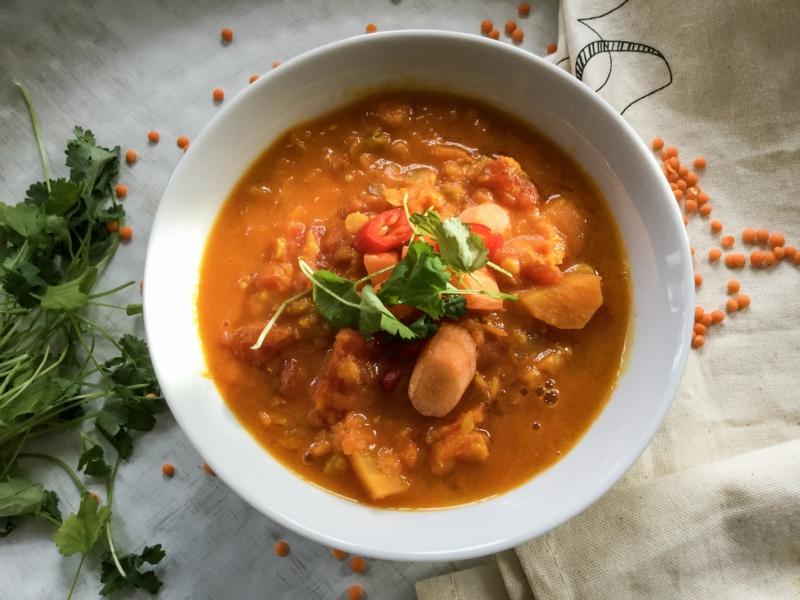 Suppen Linsen kochen