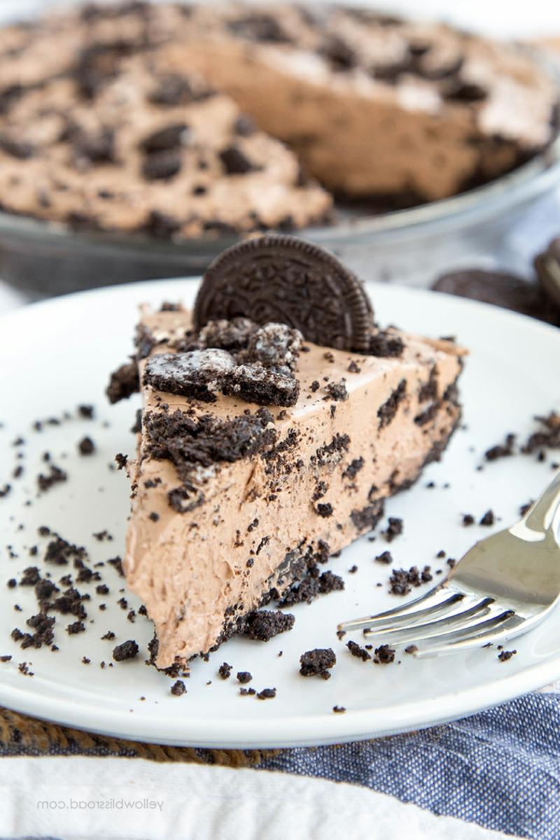 Cheesecake mit Oreos und Schokolade