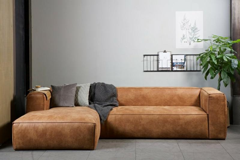Sofa kuschelweich Wohnzimmer Lederpolsterung
