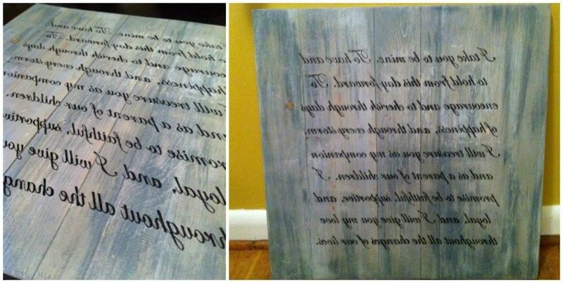 Text übertragen auf Holz einfache Methode