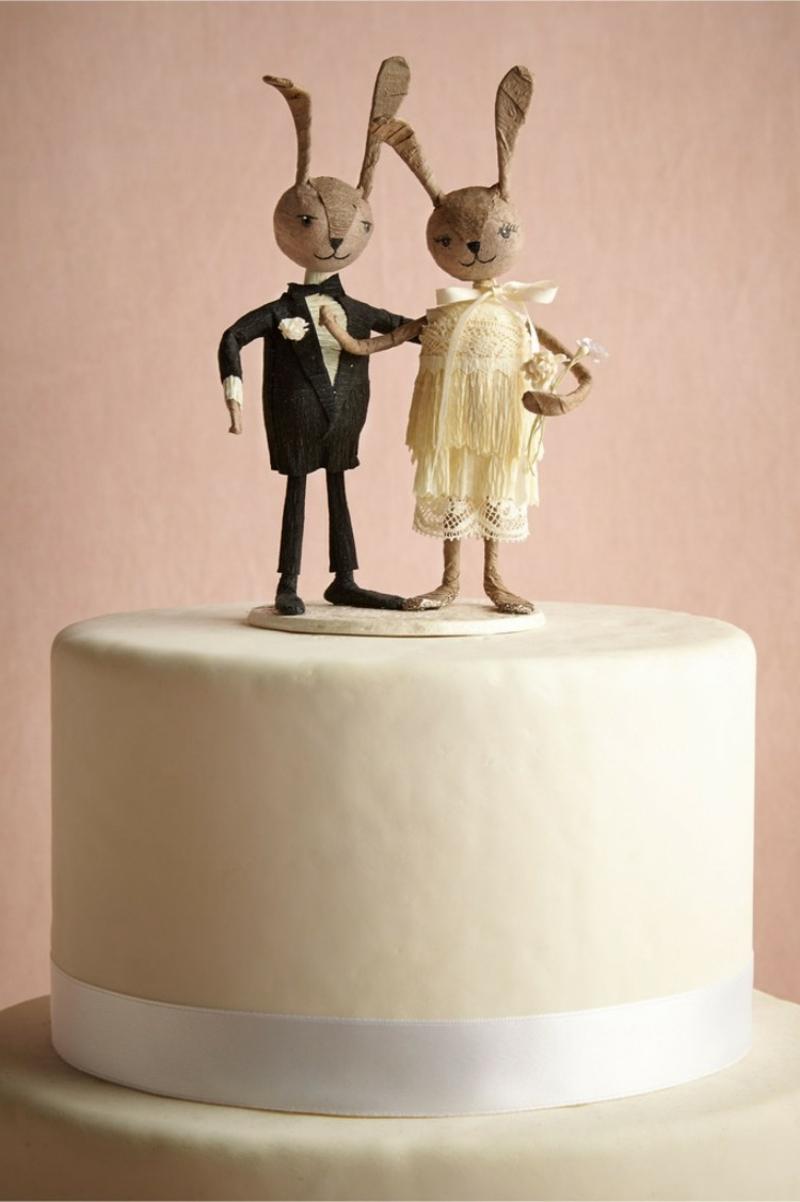 Hochzeitstorte lustige Figuren Hasen