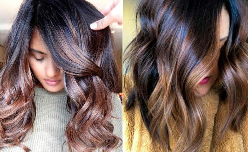 Haarfarbe klat gebrühter Kaffee