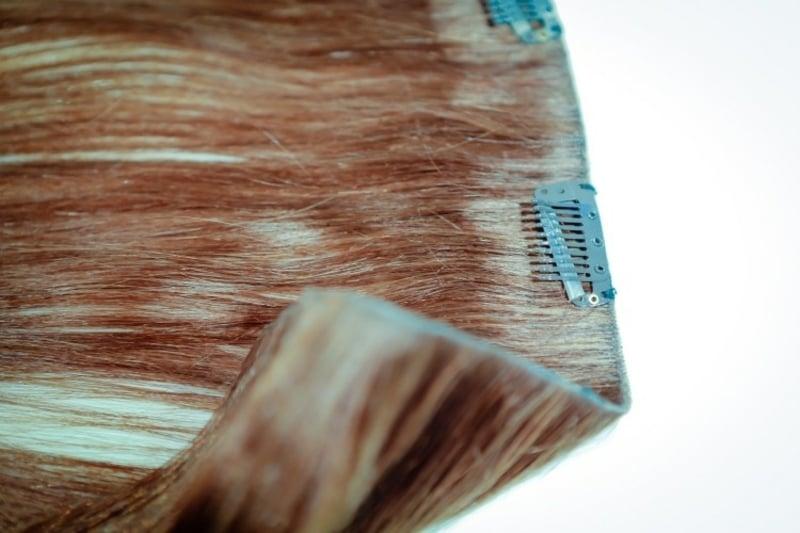 Haarverlängerung mit Tressen