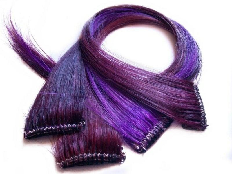 Tresse origineller Look violett