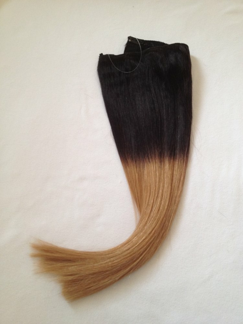 Haarverlängerung Tresse mit Ombre Effekt