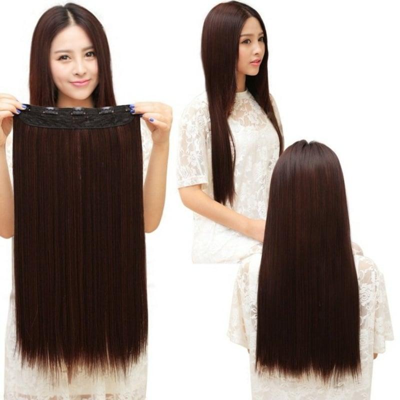Haarverlängerung mit Chips und Tressen