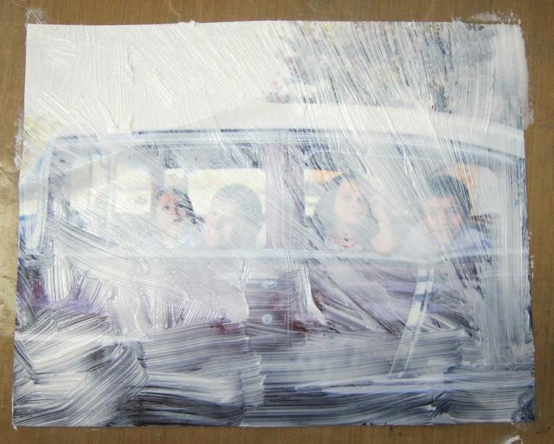 Foto auf Holz übertragen mit Weißleim