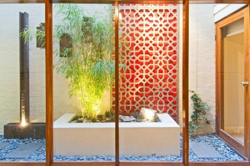kleiner Steingarten japanischer Stil