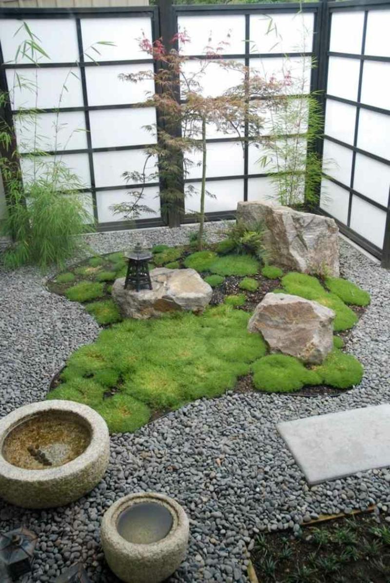 Zen Garten Kies Moos herrlicher Look