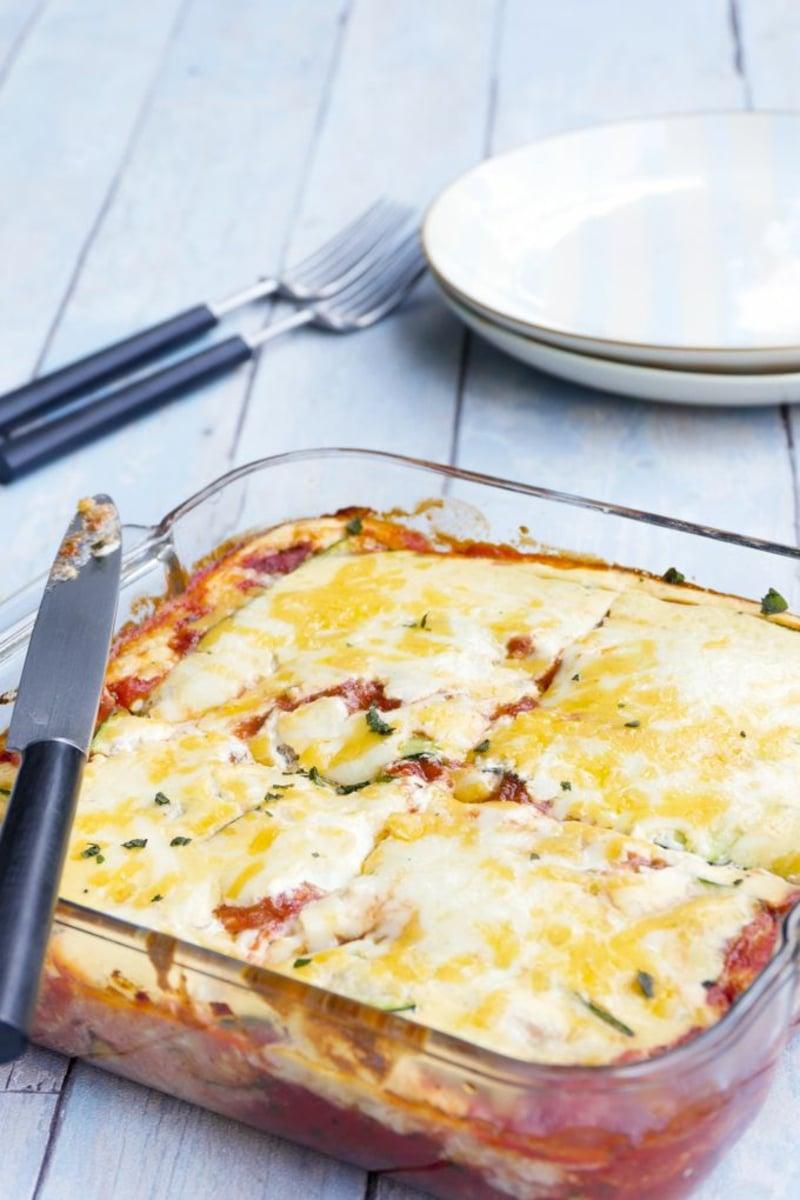 vegetarische Lasagne selber machen mit Zucchini