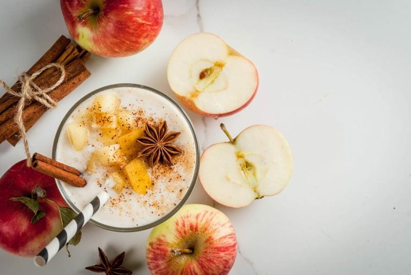 leckere Smoothies Apfel und Zimt