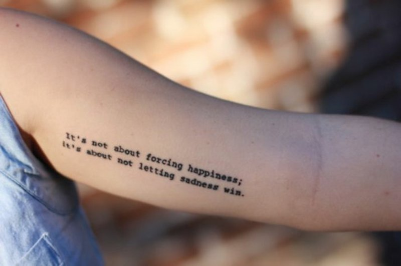 Depression Tattoo Arm inspirierende Worte