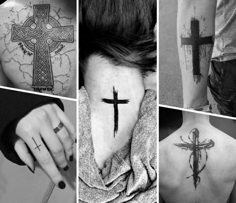 Tätowierung Kreuz verschiedene Designideen