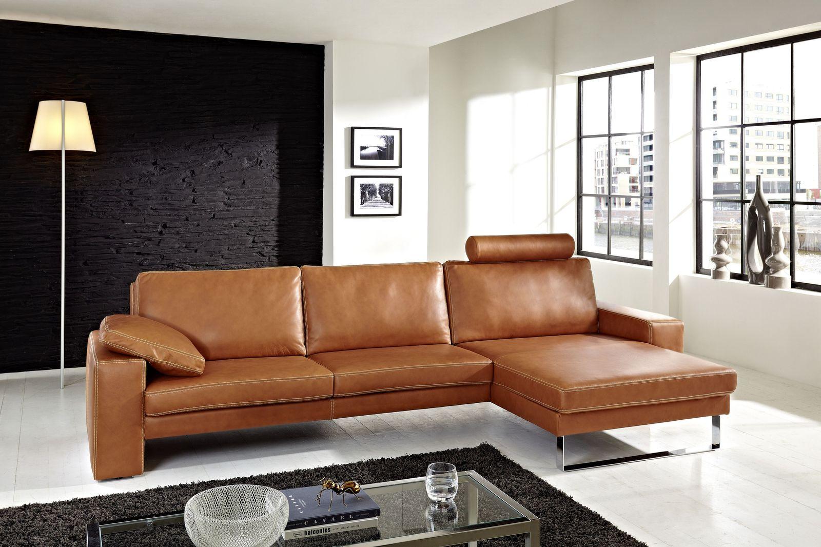 Ledersofa im Wohnzimmer elegante Ideen