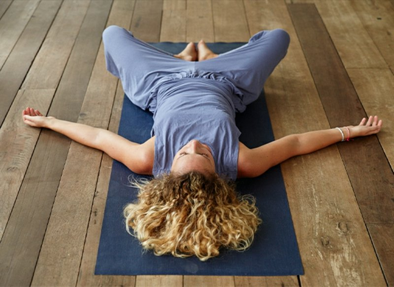 DIY Reclining Goddess Asana