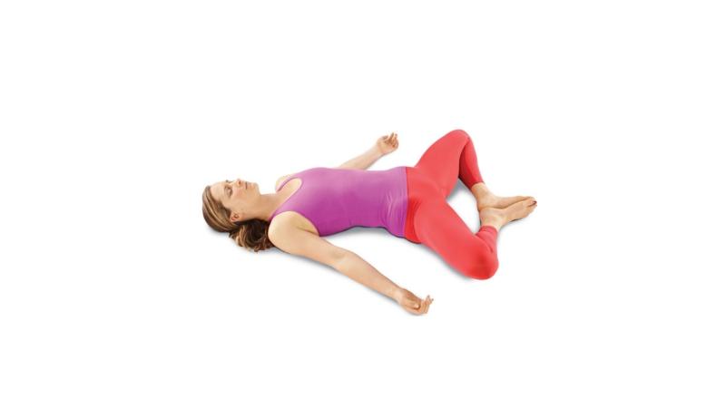 Yoga Übungen Reclining Goddess
