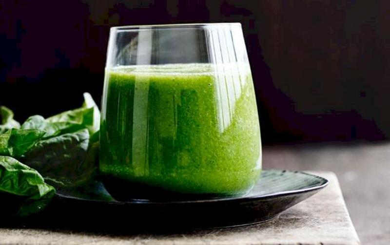 Smoothies zum Entgiften Spinat
