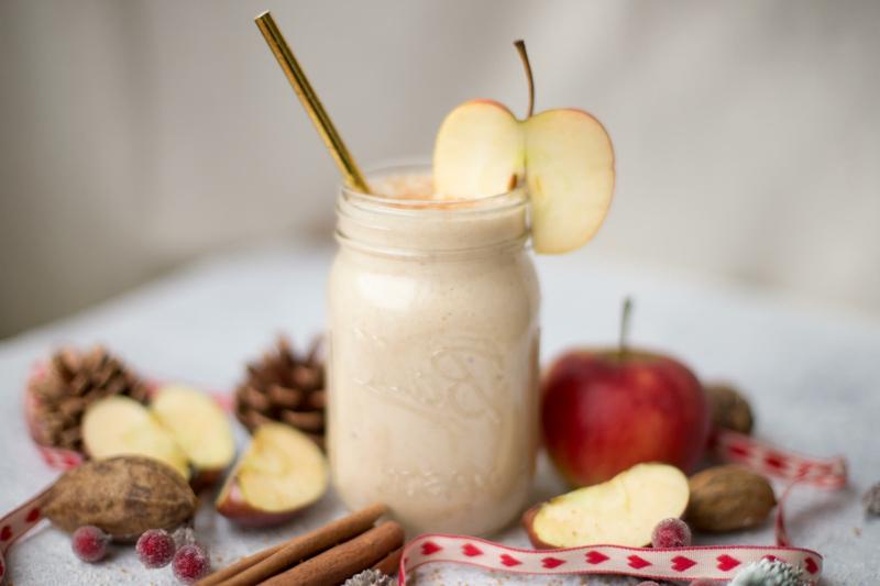 Smoothies zum Frühstück Apfel und Zimt