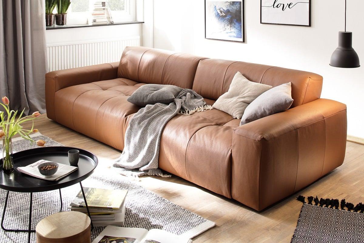 Sitzmöbel Wohnzimmer Sofa Lederpolsterung