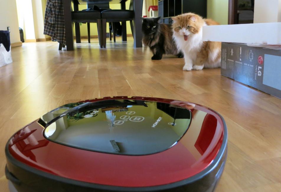Staubsauger Roboter verwenden Haustiere