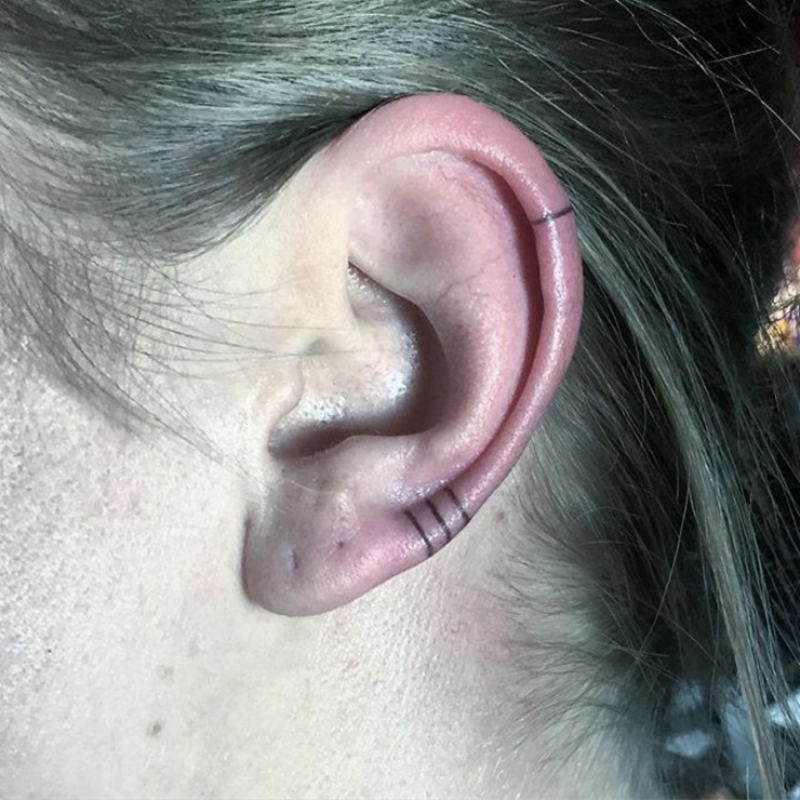 Helix Tattoo statt Piercing