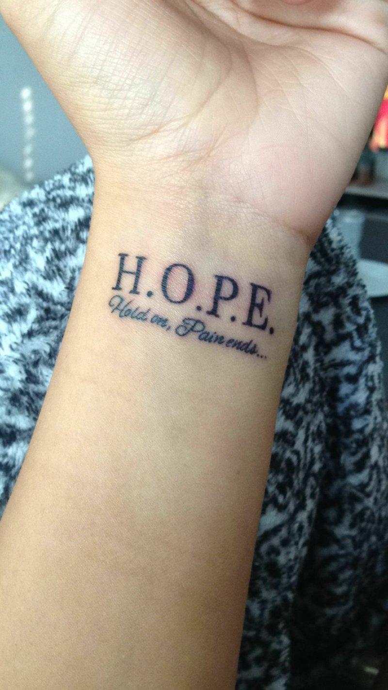Depression Tattoo Hoffnung Handgelenk