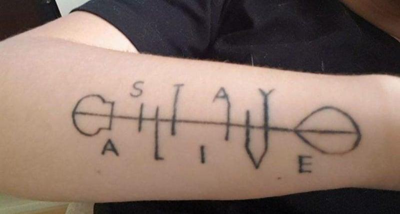 Depression Tattoo Stay Alive Pfeil