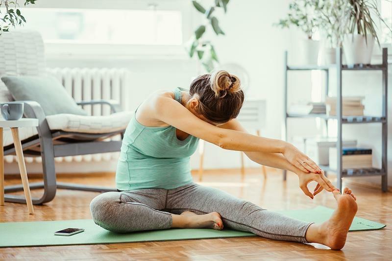 Übungen machen zu Hause