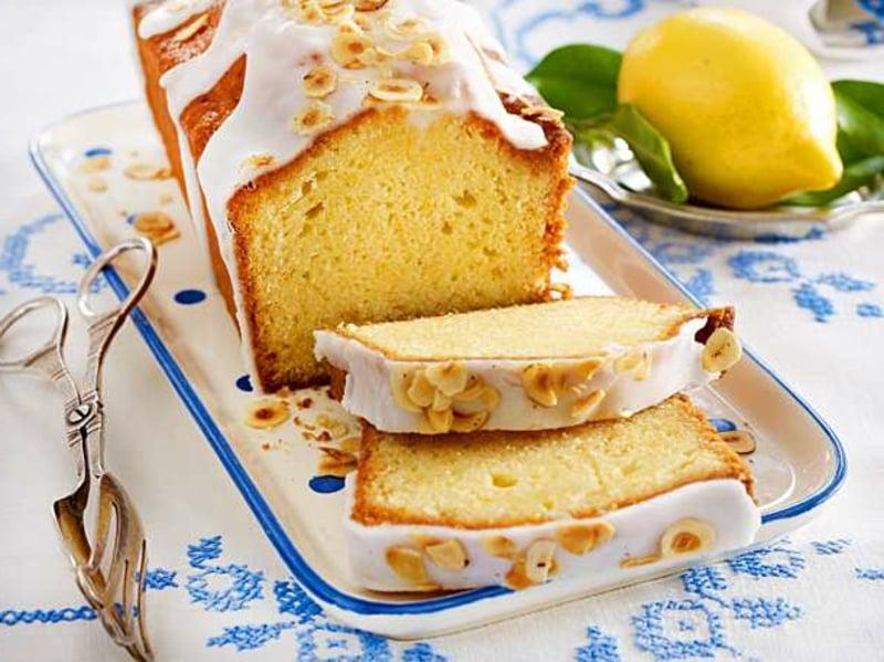 Kuchen mit Zitrone und Haselnüssen vegan