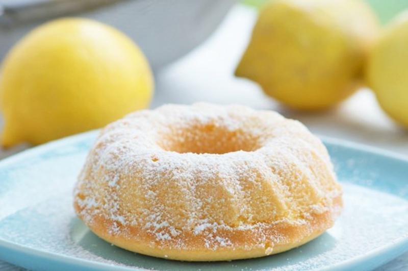 Kuchen Zitrone Springform Puderzucker