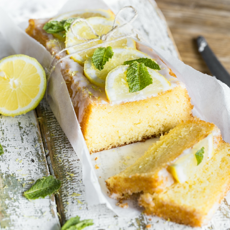 Kuchen Zitrone toller Serviervorschlag