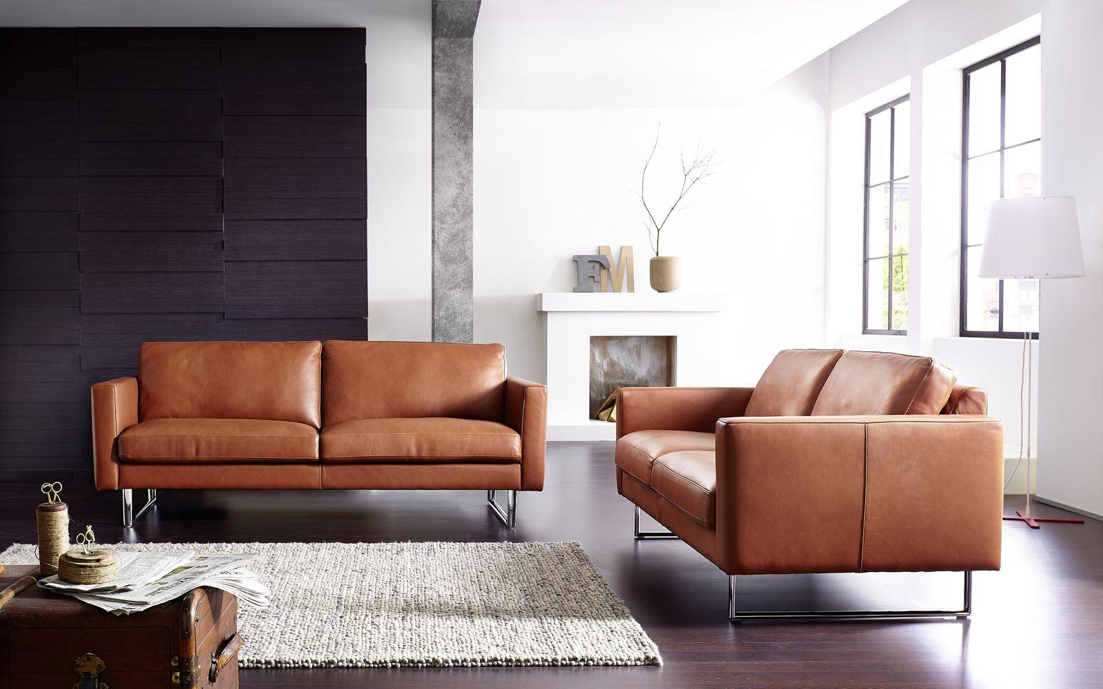 Ledersofas super stilvoll und bequem Sitzecke Wohnzimmer