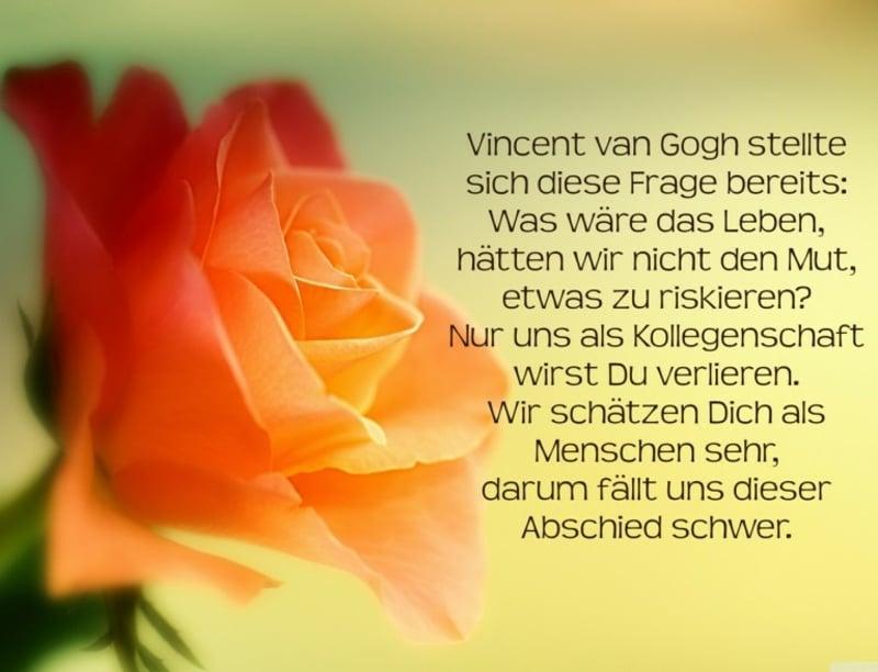 Sprüche zum Abschied Zitat van Gogh