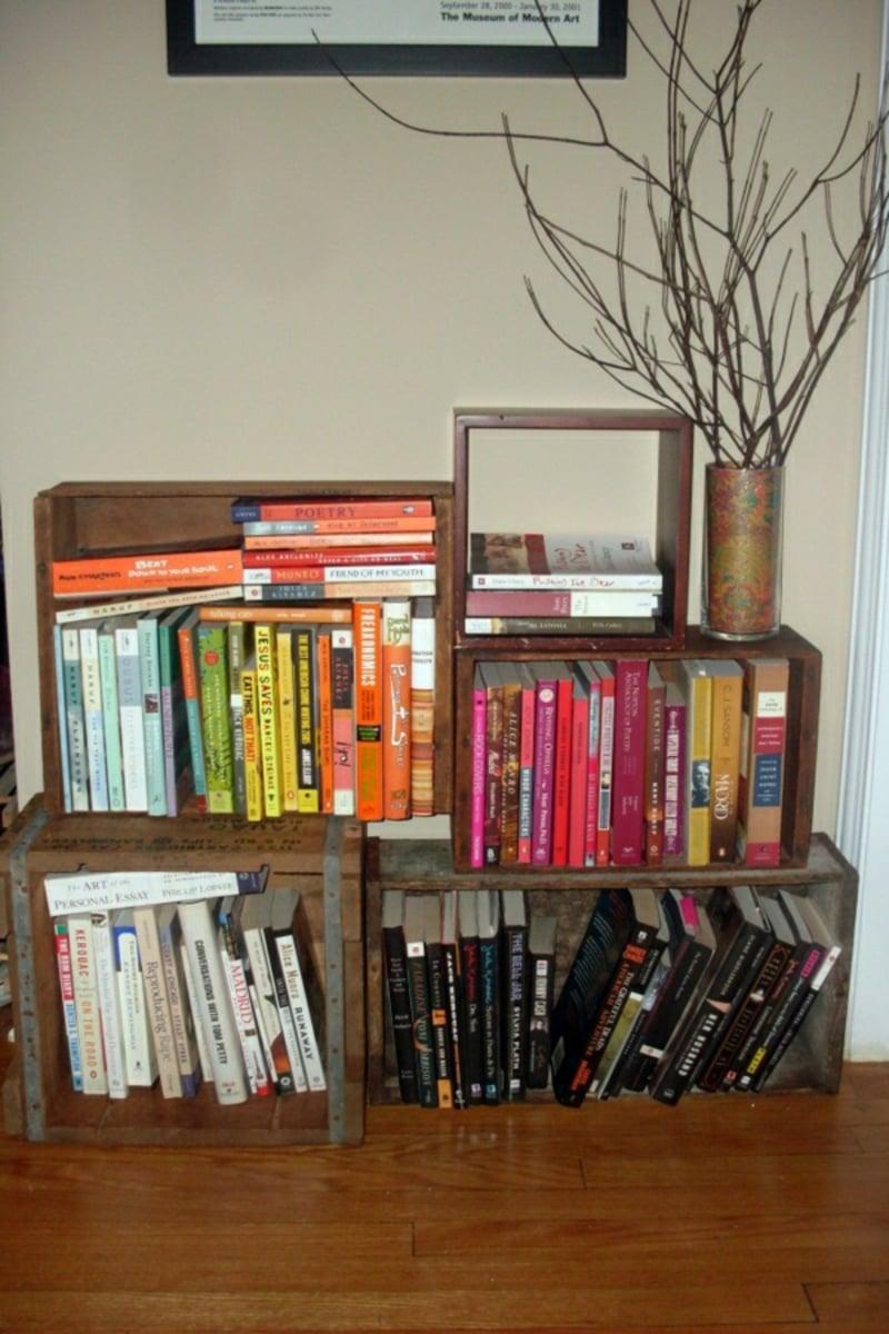 DIY Bücherregal Holzkasten