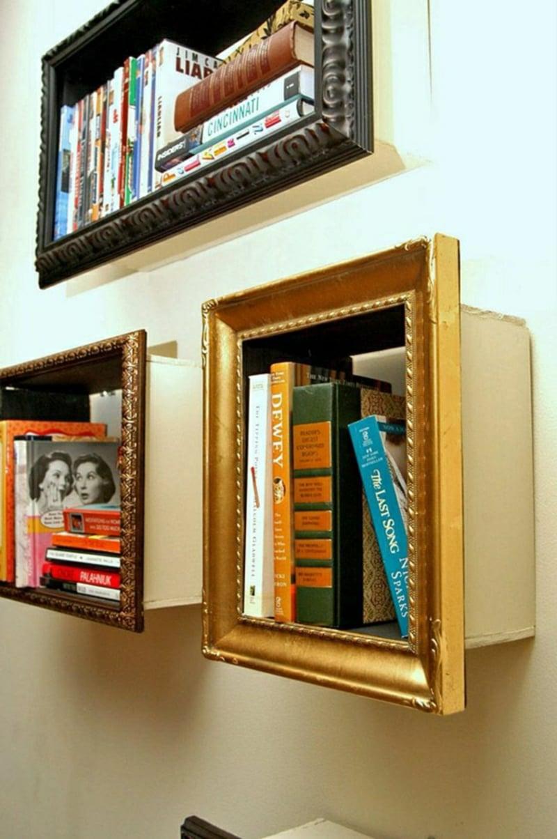 Regal ausgefallen Bücher Bilderrahmen