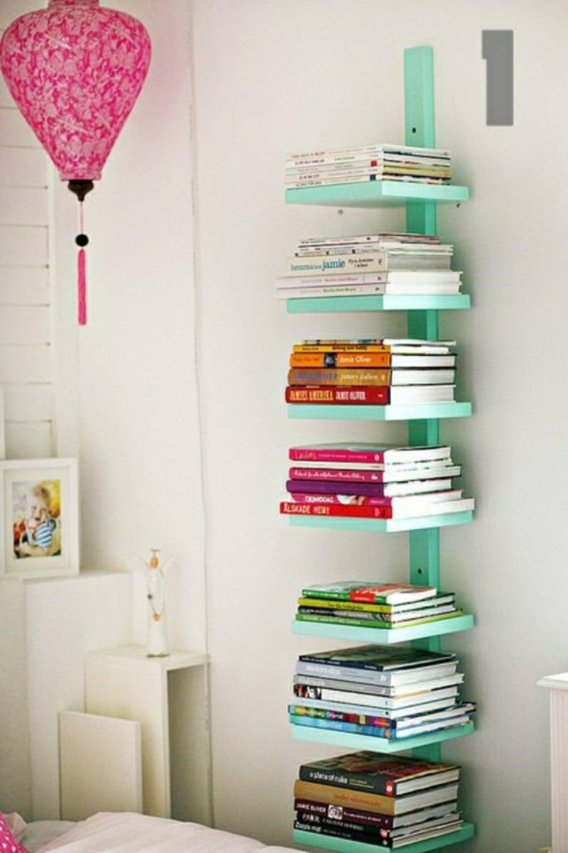 Regal bauen Bücher niedlicher Look