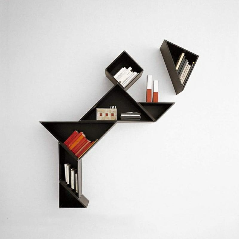 Wandregal modular Dreiecke