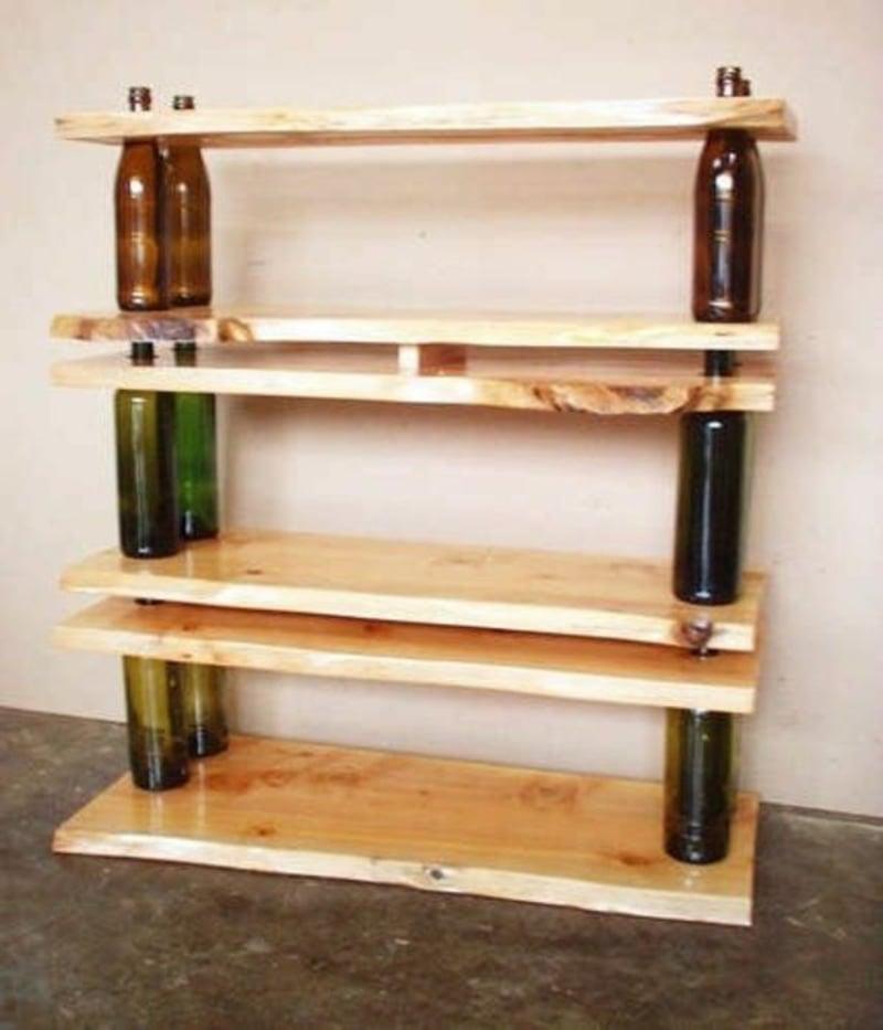 Regal mit Flaschen selber machen