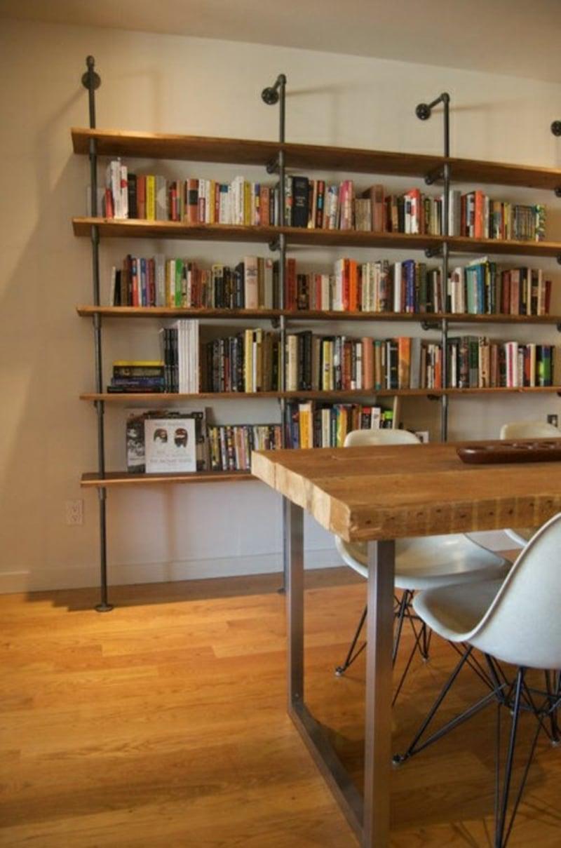 Regal bauen Bücher anordnen