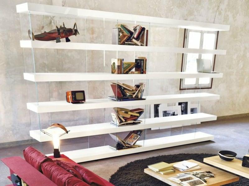Bücherregal freistehend weiss herrlicher Look