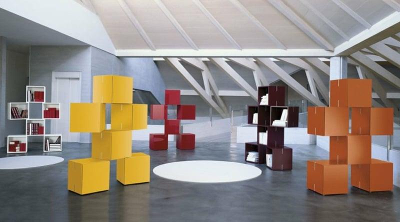 Bücherregal modular rechteckig