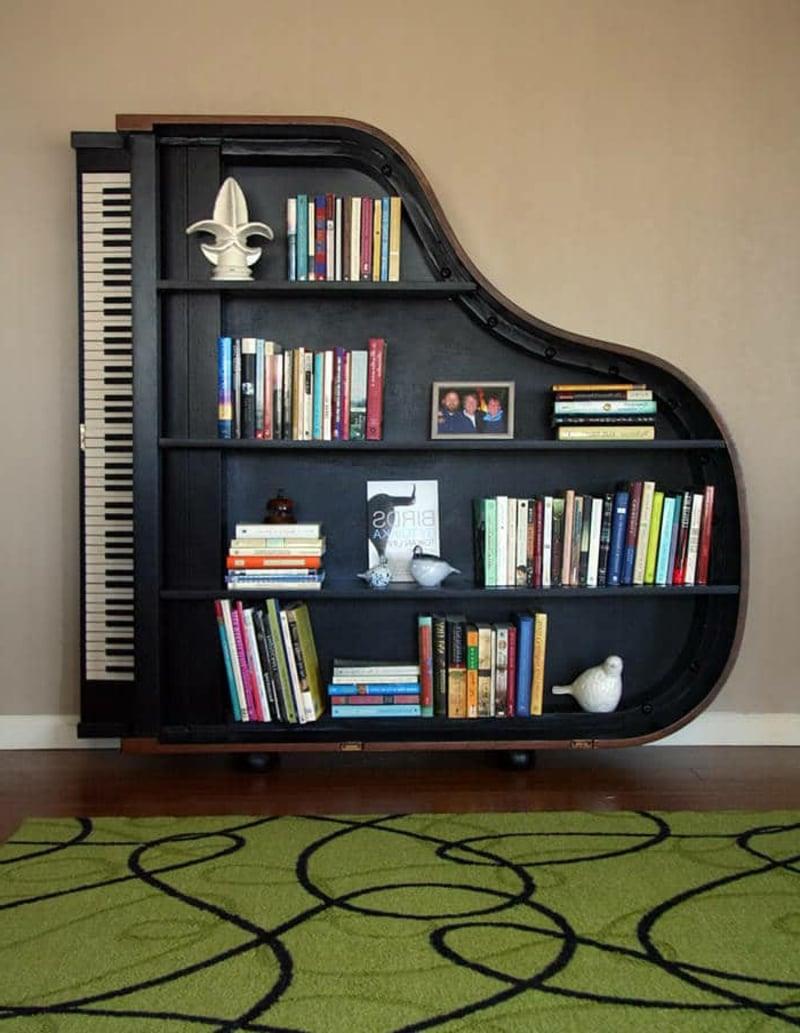 Holzregal Piano Bücher aufbewahren