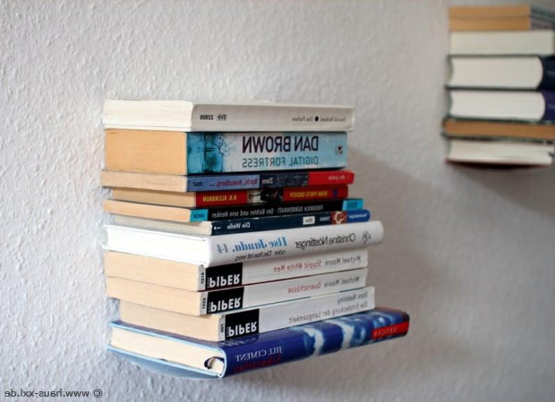 Bücherregal unsichtbar sehr originell