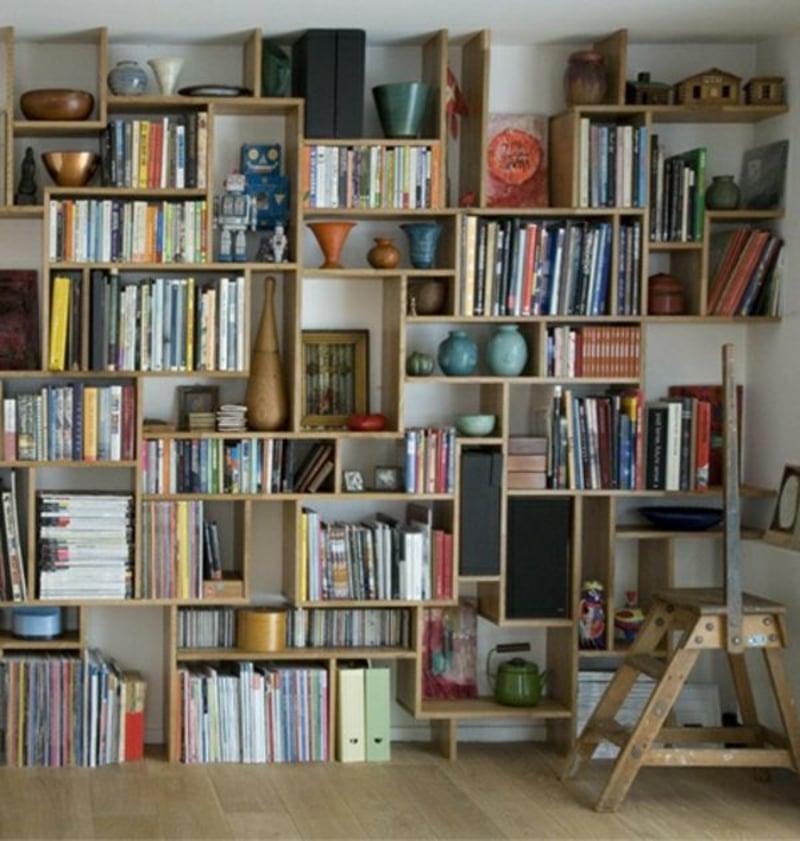Bücherregal bauen kreative DIY Ideen