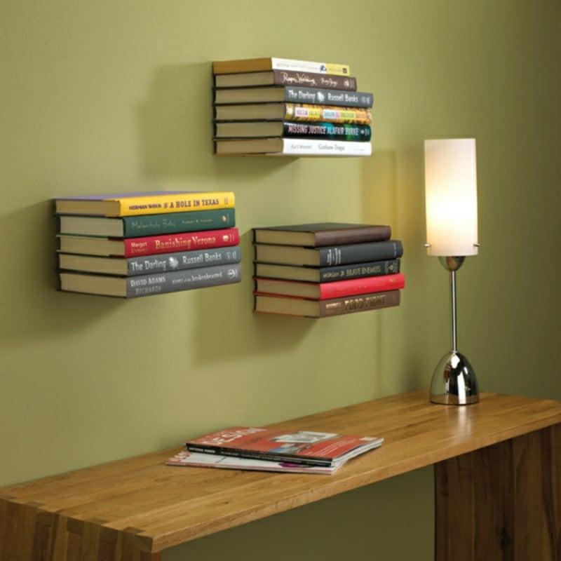 schwebende Bücherregale